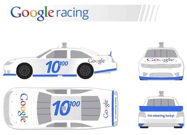 Google Racing: dessin officiel de la voiture