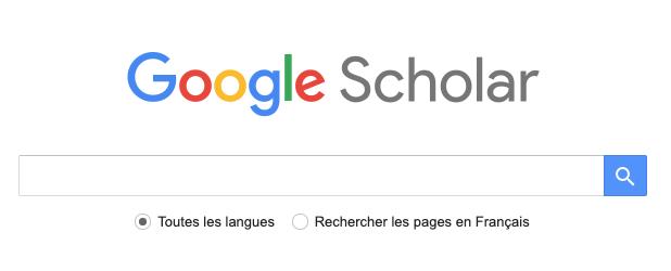 La recherche dans Google Scholar