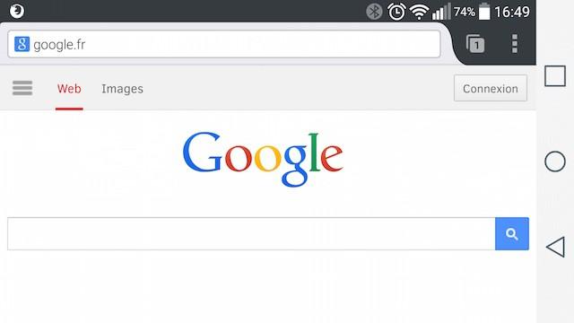 Google sur smartphone