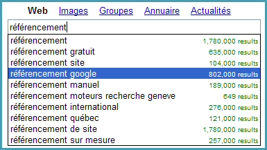 Google Suggest 2004