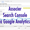 Association Google Analytics et Search Console