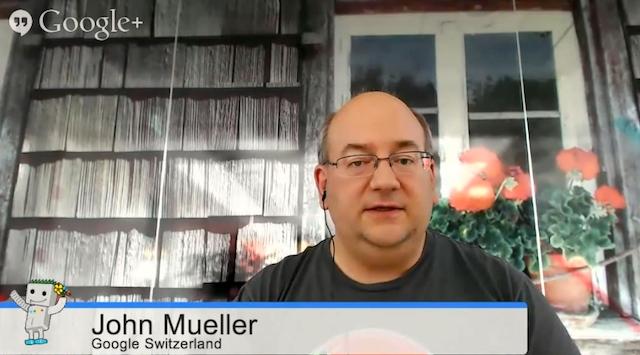 John Mueller parle des liens listés dans GWT