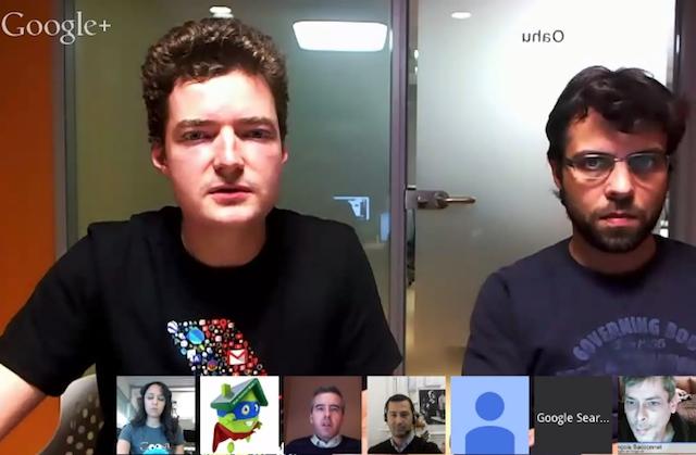 Hangout équipe qualité Google FR