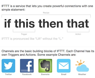 If This Then That (IFTTT)