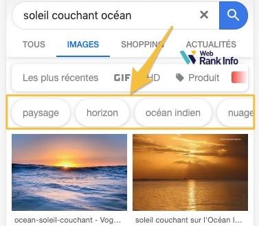 Tags dans Google Images