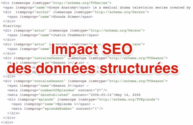 Impact SEO données structurées