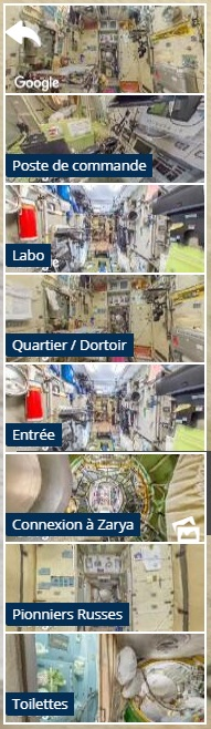 ISS 360: sous-menu