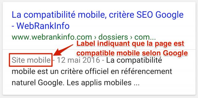 Label compatible mobile