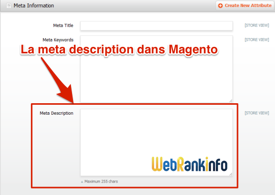 Meta description Magento