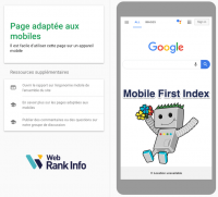 Mobile first index Google