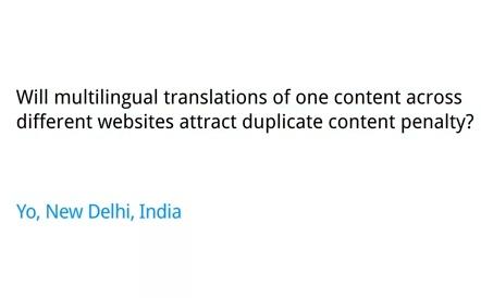 Traduction et problèmes de contenu dupliqué