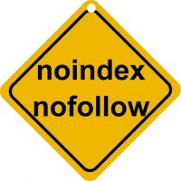 Attention noindex nofollow