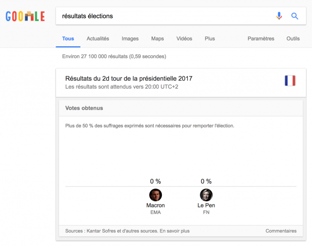 Onebox élection présidentielle 2017 France