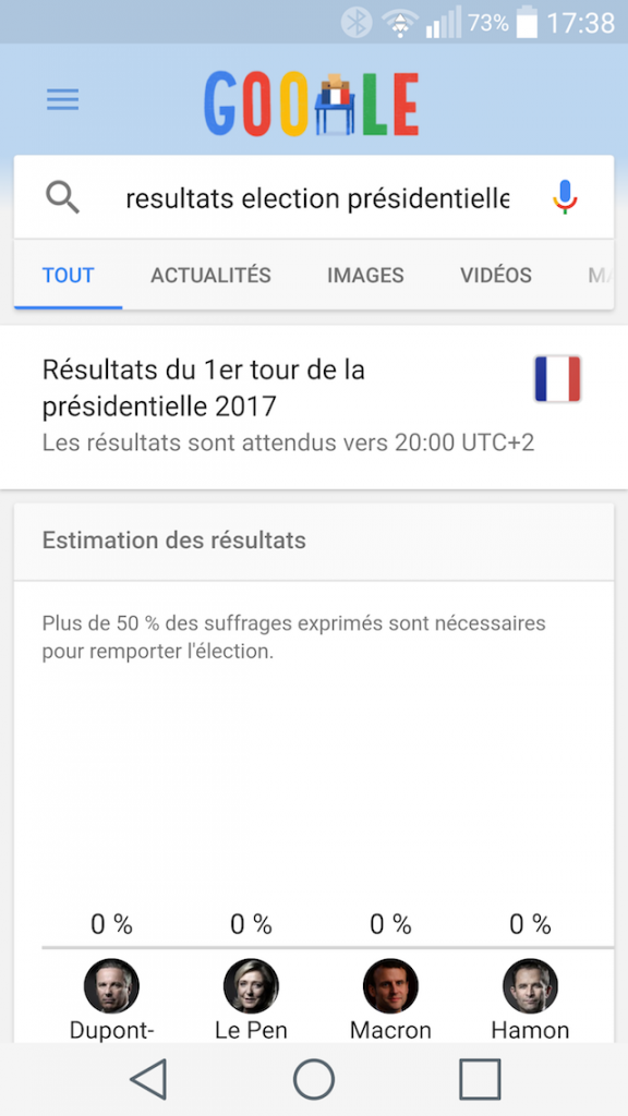 Onebox élections présidentielles 2017 France mobile