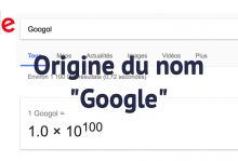 Origine du nom Google
