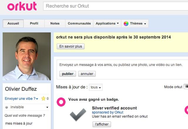 Fermeture Orkut