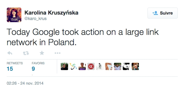 Pénalité échanges de liens Pologne