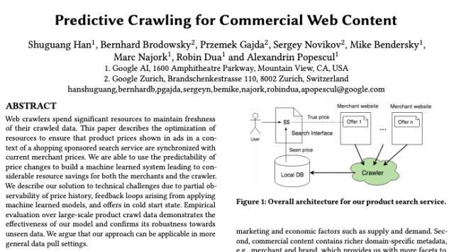 Article de Google sur le crawl prédictif