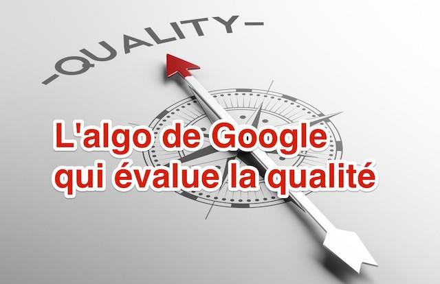 Algo qualité Google