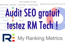Audit SEO gratuit avec RM Tech