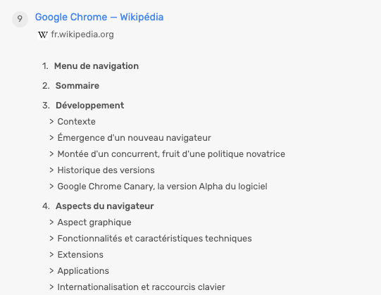 Structure des titres page Wikipedia