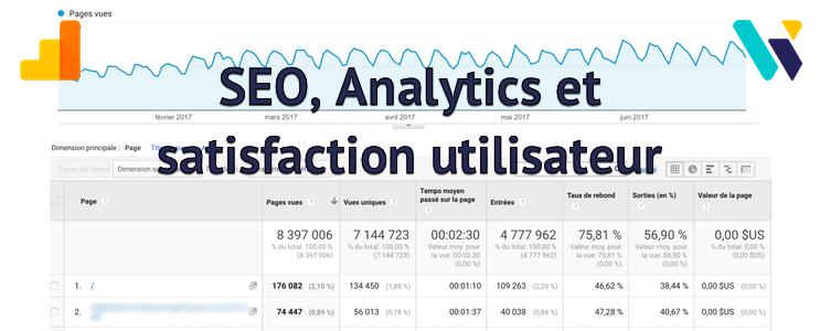 SEO, Analytics et satisfaction utilisateur
