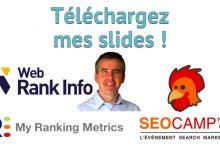 Slides WebRankInfo SEO Campus 2018