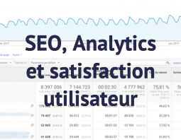 SEO : satisfaction utilisateur et Analytics