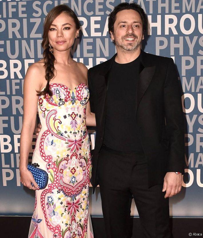 Sergey Brin et Nicole Shanahan en décembre 2016