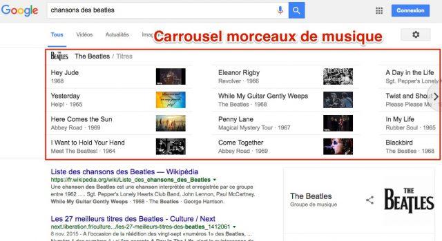 Carrousel musique Google