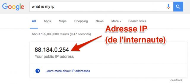 Adresse IP SERP Google