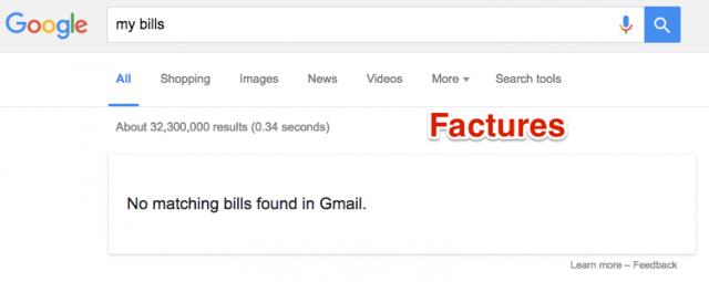 Factures dans résultats Google