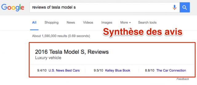 Synthèse avis Google