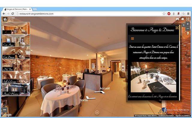 Site avec visite virtuelle enrichie