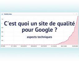 Site de qualité pour Google (aspects techniques)