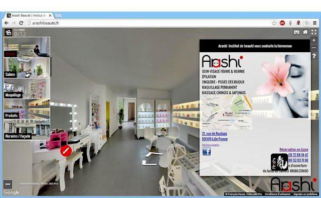 site internet sur la base de visite virtuelle enrichie