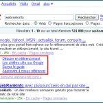 Les mini-sitelinks de Google