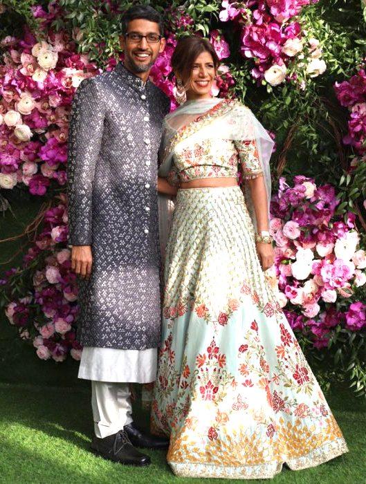 Sundar Pichai et Anjali Pichai