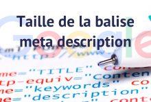 Taille meta description