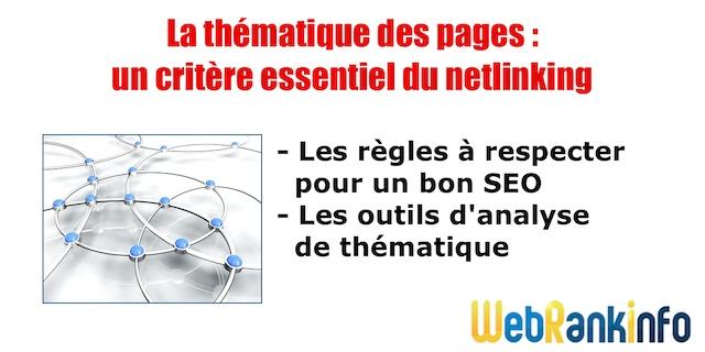 Thématique des pages et netlinking