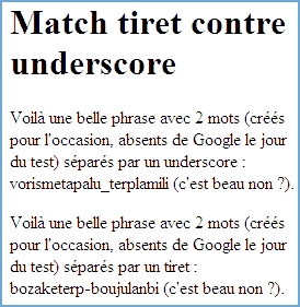 Referencement Google : tirets (dashes) ou tirets bas (underscores) ?