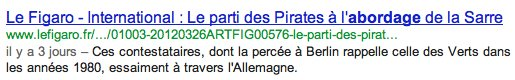 Un titre très long dans les SERP Google