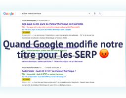 Google modifie le titre d'une page dans les SERP