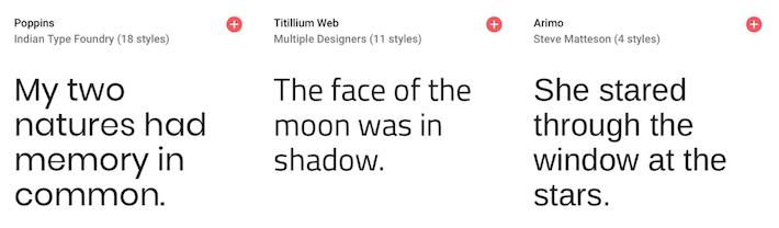 Typographies conseillées