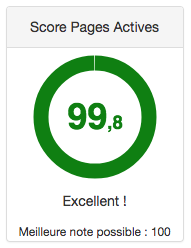 Excellent score pages actives