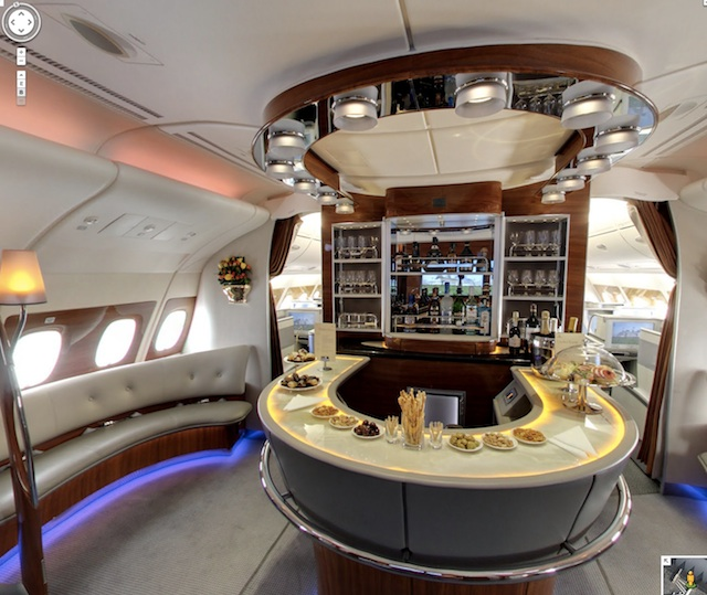 visite virtuelle airbus a380 streetview