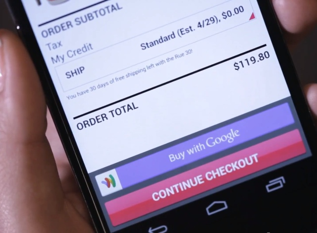 Instant Buy sur Google Wallet
