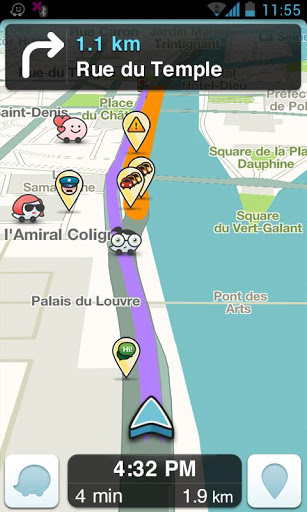 Waze (capture d'écran 1)