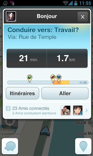 Waze (capture d'écran 2)