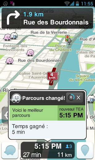 Waze (capture d'écran 3)